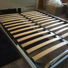 find more full size metal bed frame can fit a queen mattress on it