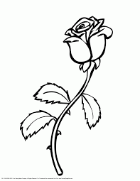 single rose coloring page kids drawing and coloring pages marisa