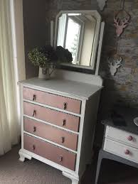 rose gold vanity table rose gold white chest of drawers dressing table in tenby