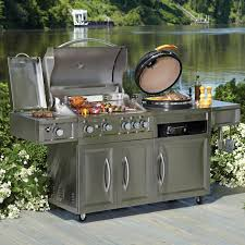 Backyard Gas Grill Reviews by Member U0027s Mark Gas U0026 Kamado Combo Grill Grills And Patios