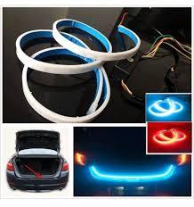 car led light strip car rear boot led daytime running light strip trunk light with