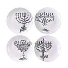 hanukkah plates museum lights of hanukkah plate set