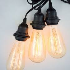 vintage light bulb strands zimtown bulb string lights with st64 edison incandescent bulbs 25ft