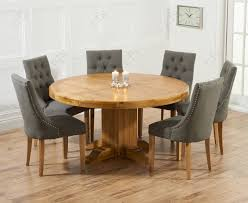 Buy Mark Harris Turin Solid Oak Cm Round Dining Set With - Round kitchen table sets for 6