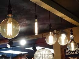 large edison bulbs in sockets