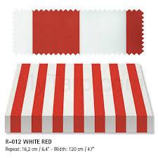 White Awning Awning Marine Fabric Recacril Classic Stripes R 012 Red White