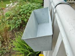 vegetable u0026 herb planters galvanized railing planter with clips