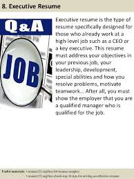 C Level Executive Resume Samples by Top 8 Crm Manager Resume Samples
