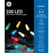 ge stay bright 100 count multi function color changing led