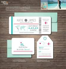 destination wedding invitations by giving art of painting on your