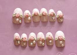 nail fake nails french tips bridal nail 3d nail