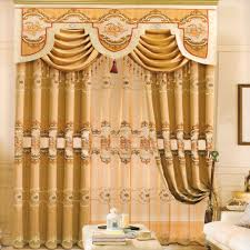 shabby chic valances rustic splicing design coffee pattern living room curtain no