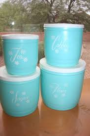 vintage kitchen canisters sets 188 best blue canisters images on canister sets