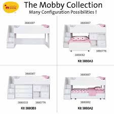 south shore mobby twin trundle bed on casters multiple finishes