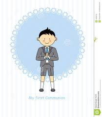 First Communion Invitations Cards Boy First Communion Stock Vector Image 45059276