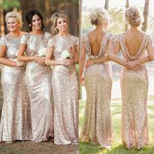 sequin shiny open back bridesmaid dresses long bridesmaids dresses