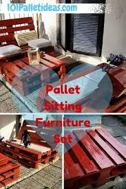 Outdoor Pallet Furniture Outdoor Pallet Furniture Set