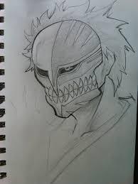 hollow ichigo sketch by artkid215 on deviantart
