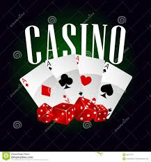 casino dice and cards stock vector illustration of luck