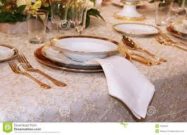 Table Setting by Classic Table Setting Stock Images Image 4250994