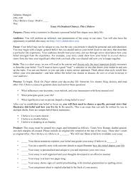 sample thematic essay on belief systems assignment sheet this i believe