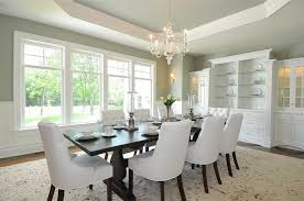 jillian klaff homes traditional dining room with sage green paint