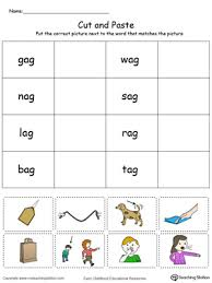 ag word family match picture with word in color word families