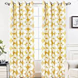 Yellow Patterned Curtains Yellow Draperies Curtains Window Treatments