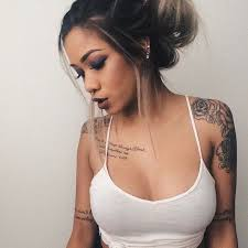 collection of 25 words and tattoos on shoulder for