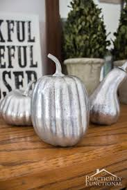 styrofoam pumpkins diy faux mercury glass pumpkins with foam pumpkins