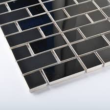 stainless steel mosaic tile backsplash tst stainless steel mosaic tile silver mirror glass tiles