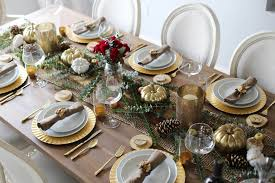 gold thanksgiving table styled by kasey