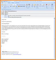 Business Letter Format Sent Via Email Sending Resume And Cover Letter Via Email