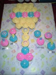 Pull Apart Cupcake Cakes Baby Rattle Cupcake Cakemade This - Pull apart cupcake designs