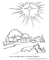 christmas story coloring pages star bethlehem
