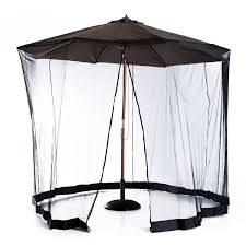 Umbrella Netting Mosquito by Outsunny 7 5 U0027 Outdoor Umbrella Mosquito Net Black Patio