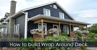 wrap around deck designs how to build a deck raised deck and wrap around porch design ideas