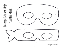 eye mask template mask tmnt pencil and in color mask tmnt
