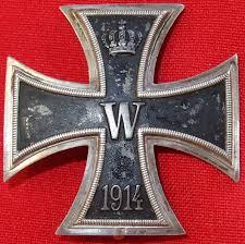 ww1 convex 800 german iron cross 1st class for bravery in combat