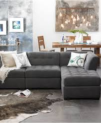 furniture beige leather modular sectional sofa with storage