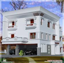 3 storey flat roof home design kerala home design and floor plans