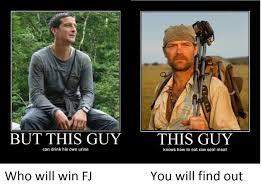 Man Vs Wild Meme - bear vs survivor man