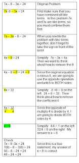 algebraic equations chart equations in order to solve two step equations algebra equationssolving