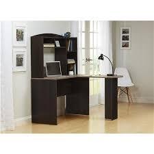 Espresso Desk With Hutch Ameriwood Furniture Sutton L Desk With Hutch Weathered Oak