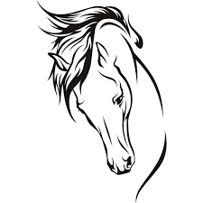 easy horse drawings simple horse head drawing elegant horse head horses head wall art stickers wall decal transfers