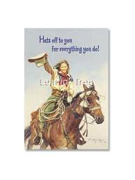 leanin tree hats to you thank you card 19961 buffalo trader