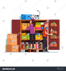 family couple man woman working together stock vector 704621362
