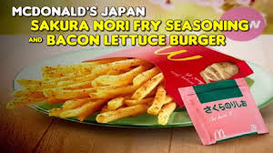 mcdonald u0027s japan sakura nori fry seasoning u0026 bacon lettuce burger