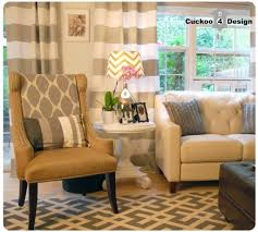 Brown And White Striped Curtains Home Decoration Appealing White And Gray Horizontal Striped