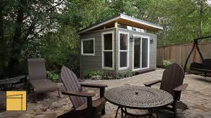 Backyard Office Plans Customer Profile Modern Shed Home Office Youtube